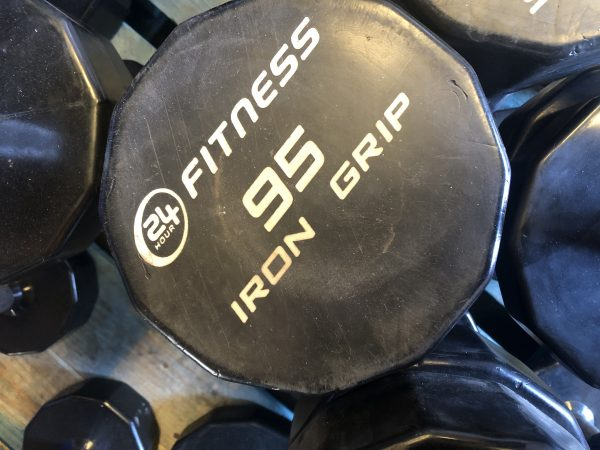 95lb iron grip dumbbell